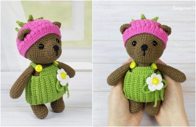 Awesome Crocheted Amigurumi Baby Bear with Free Pattern.