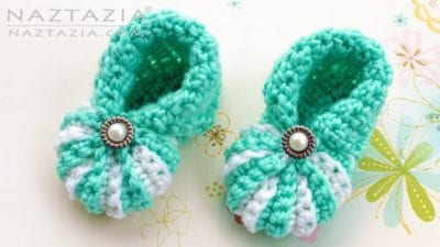 Cute and Easy Crocheted Baby Booties for Beginnerswith Free Pattern.