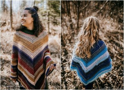 Pretty Cool Poncho for Ladies and Little Girls Free Pattern
