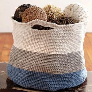 Handy Basket Free Crochet Pattern