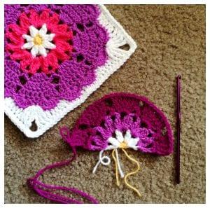 Cute Spring CrochetedHeart Mandala FlowerFree Pattern