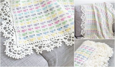 Super Easy Crocheted Love Scraps Afghan with Free Pattern