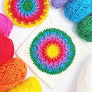 Kaleidoscope Granny Square Free Crochet Pattern