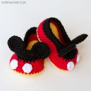 Mickey Mouse Baby Booties Free Crochet Pattern