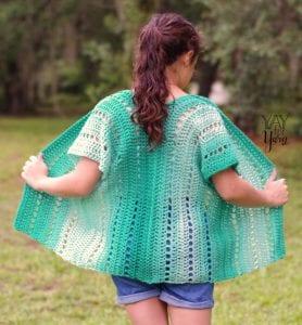 Seafoam Cardigan Free Crochet Pattern