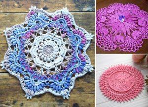 Beautiful Vibrant Crochet Doilies