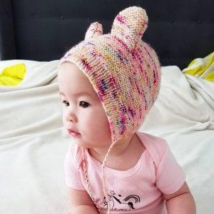 Bearly Bonnet Free Knitting Pattern
