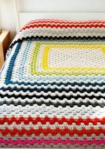 Giant Giant Granny Square Blanket Free Crochet Pattern