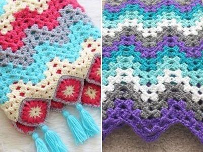 Granny Ripple Crochet Afghans