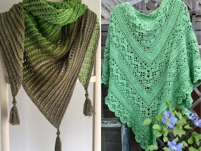 Green Crochet Shawls