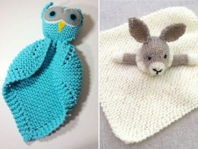 Knitted Baby Blanket Buddy