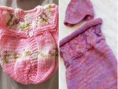 Knitted Baby Sleep Sacks