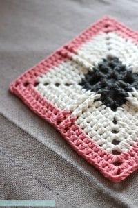Ribbed Cross Granny Square Free Crochet Pattern