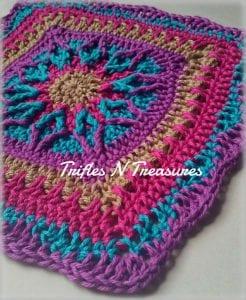 Starburst Square Free Crochet Pattern