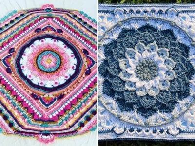 Stunning Crochet Mandala Squares