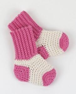Two Tone Baby Socks Free Crochet Pattern