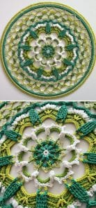 Enchanting beauty of awakening mandala free crochet pattern