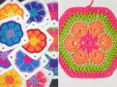 African Flower Crochet Motif