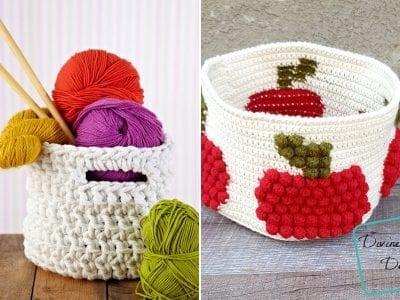 Fun and Useful Crochet Baskets