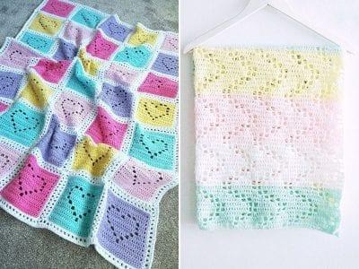 Lovely Filet Baby Blankets