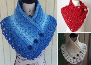 Trendy colorful free crochet cowls patterns featured
