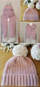 Simplicity hat and scarf free crochet pattern