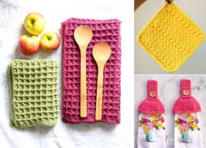 Zero Waste and Colorful Crochet Dishcloths