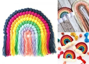 Beautiful Crochet Rainbow Ideas