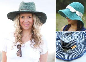Lovely Feminine Crochet Sunhats